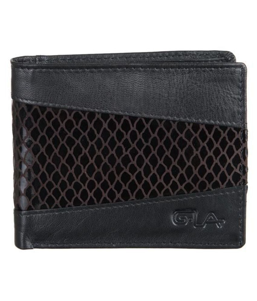Goodwill Leather Art Leather Black Formal Short Wallet