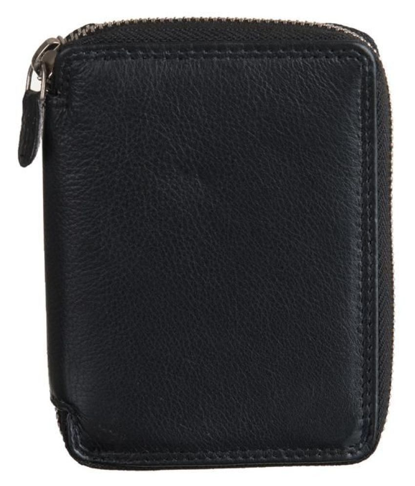Goodwill Leather Art Leather Black Casual Long Wallet