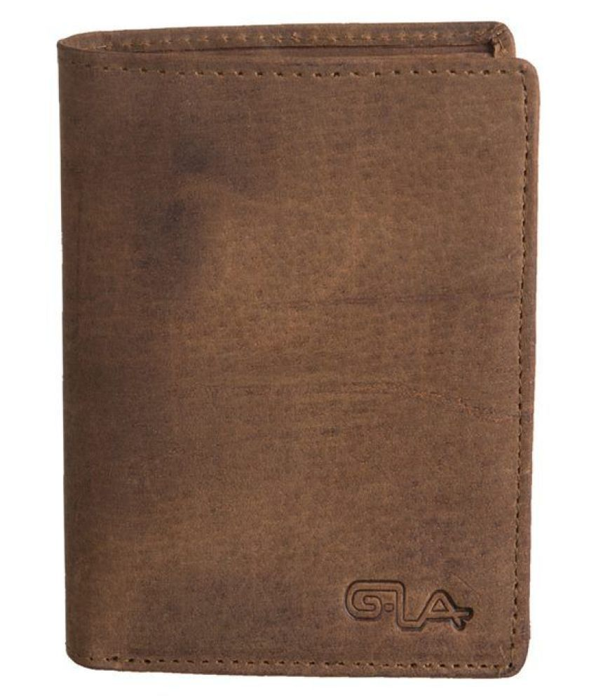 Goodwill Leather Art Leather Tan Casual Long Wallet