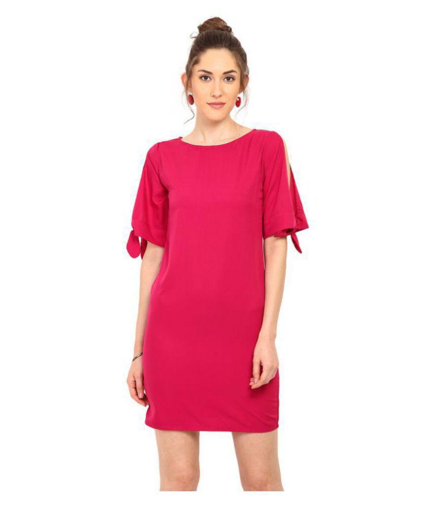 Trend Arrest Polyester Purple Regular Dress