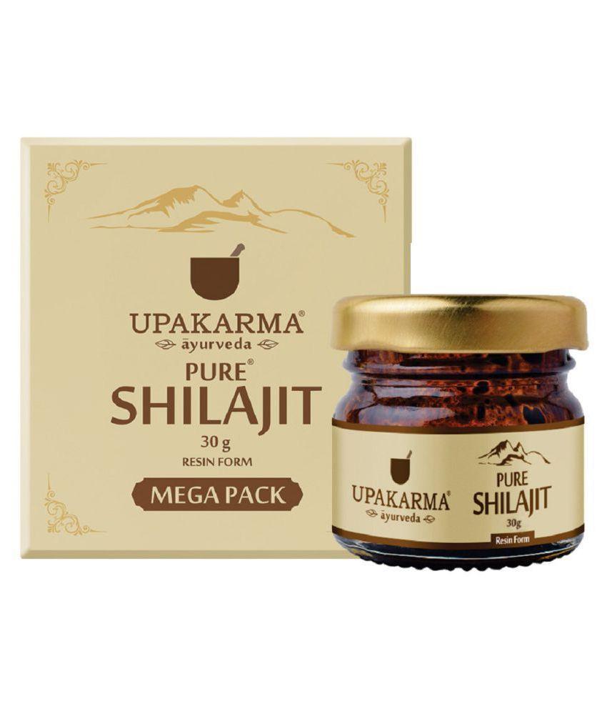 UPAKARMAAYURVEDA Pure &  Natural Shilajit Resin 30 gm Natural Multivitamins Capsule