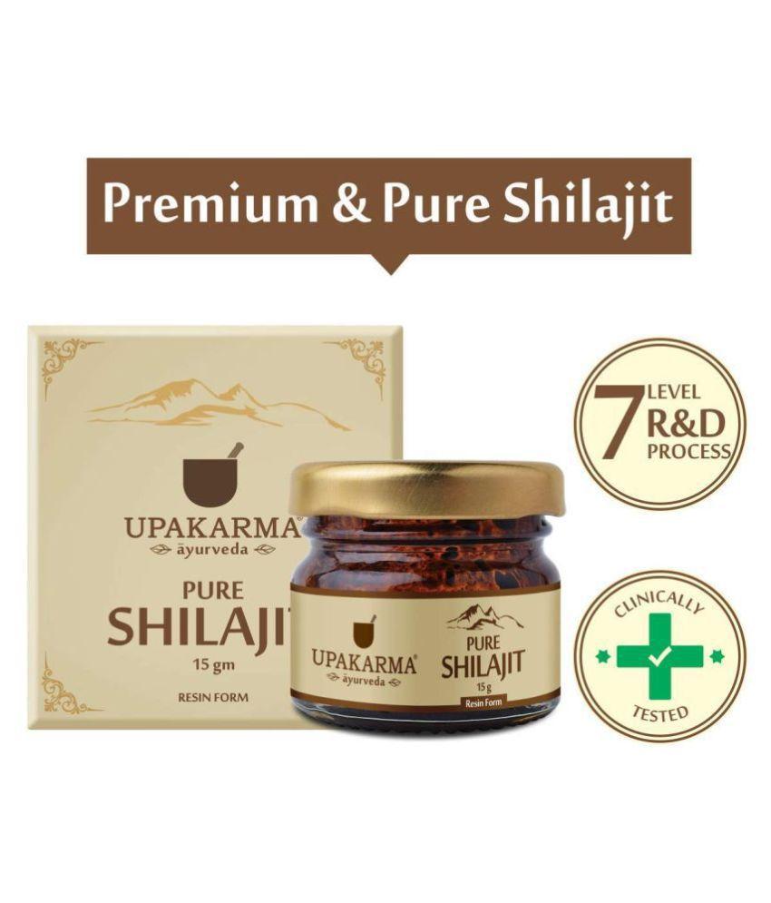UPAKARMAAYURVEDA pure and natural raw Liquid shilajit Power 15 gm Multivitamins Softgel Pack of 2