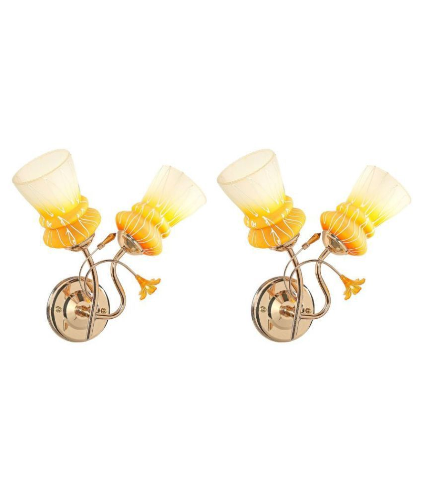 Somil Decorative Wall Lamp Light Glass Wall Light Multi - Pack of 2