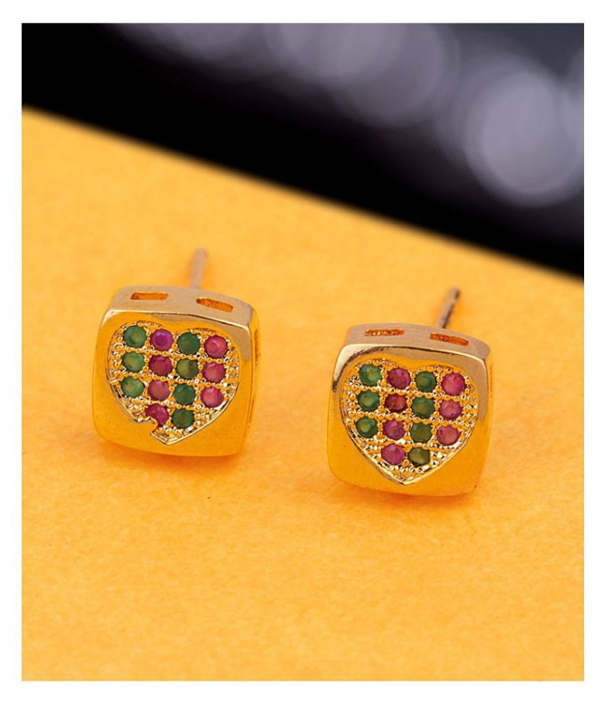 Voylla CZ Gem Adorned Stud Earrings