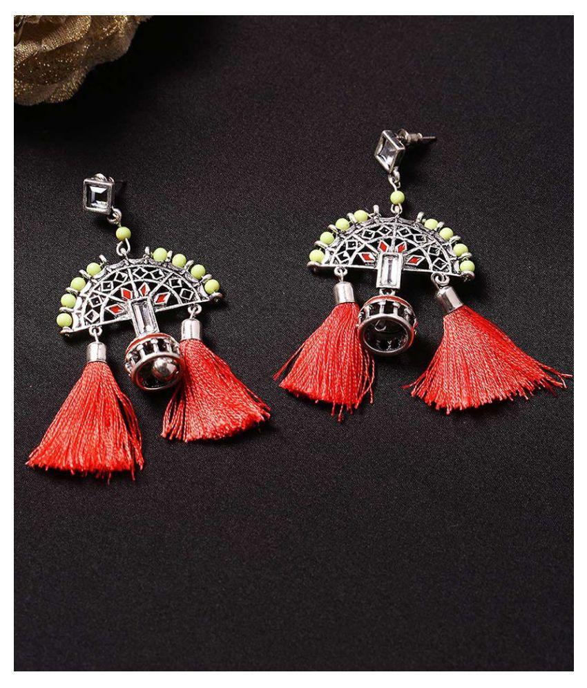 Voylla Theyyam Semi Circle Embellished Earrings