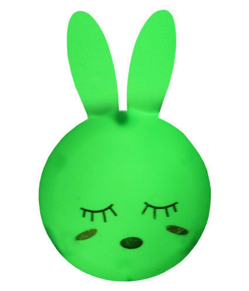 Skylofts Rabbit LED Plug in Lamp Night Light Home Decoration Night Lamp Green - Pack of 1