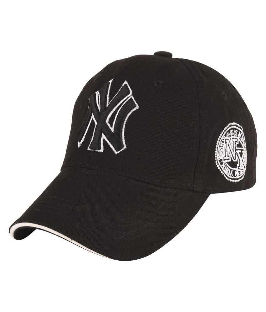 Kids's Cotton Black Adjustable Strap Cap