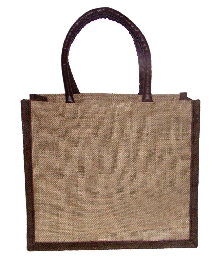 Foonty Brown Jute Tote Bag