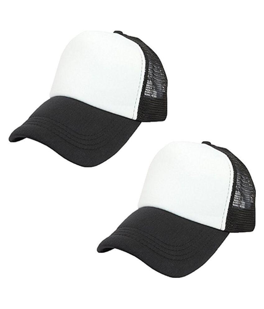 DRUNKEN Black Plain Cotton Caps