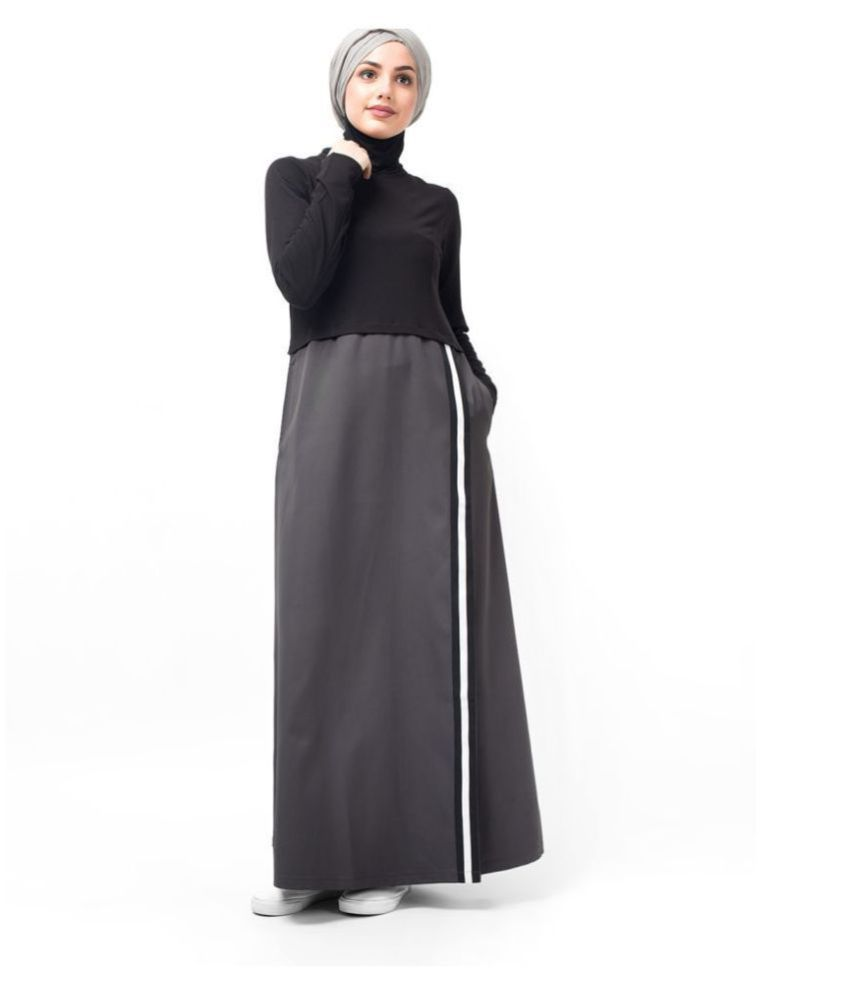 Silk Route London Black Polyester Stitched Burqas without Hijab