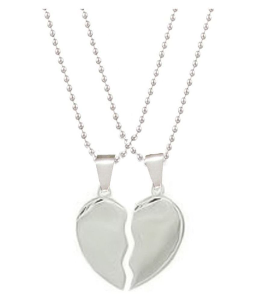 Love Pendant Chain By Marvelous Broken Heart Couple Pendant with Chain