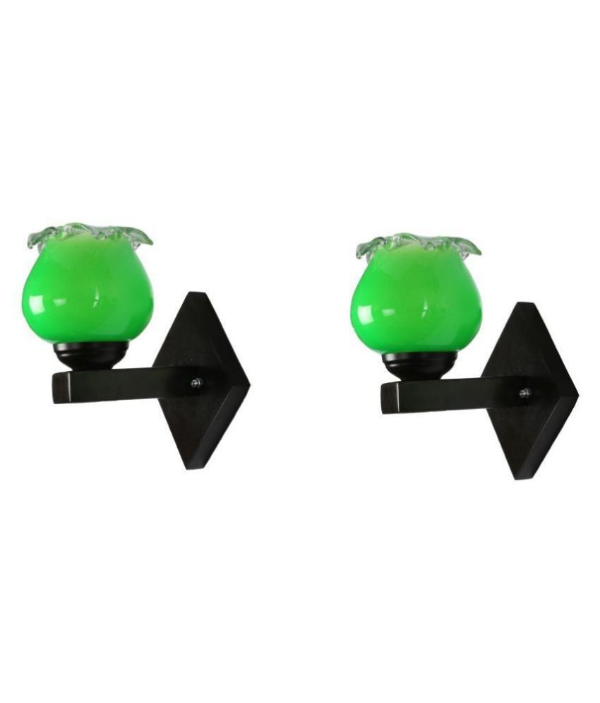 AFAST Decorative Wall Lamp Light Glass Wall Light Green - Pack of 2