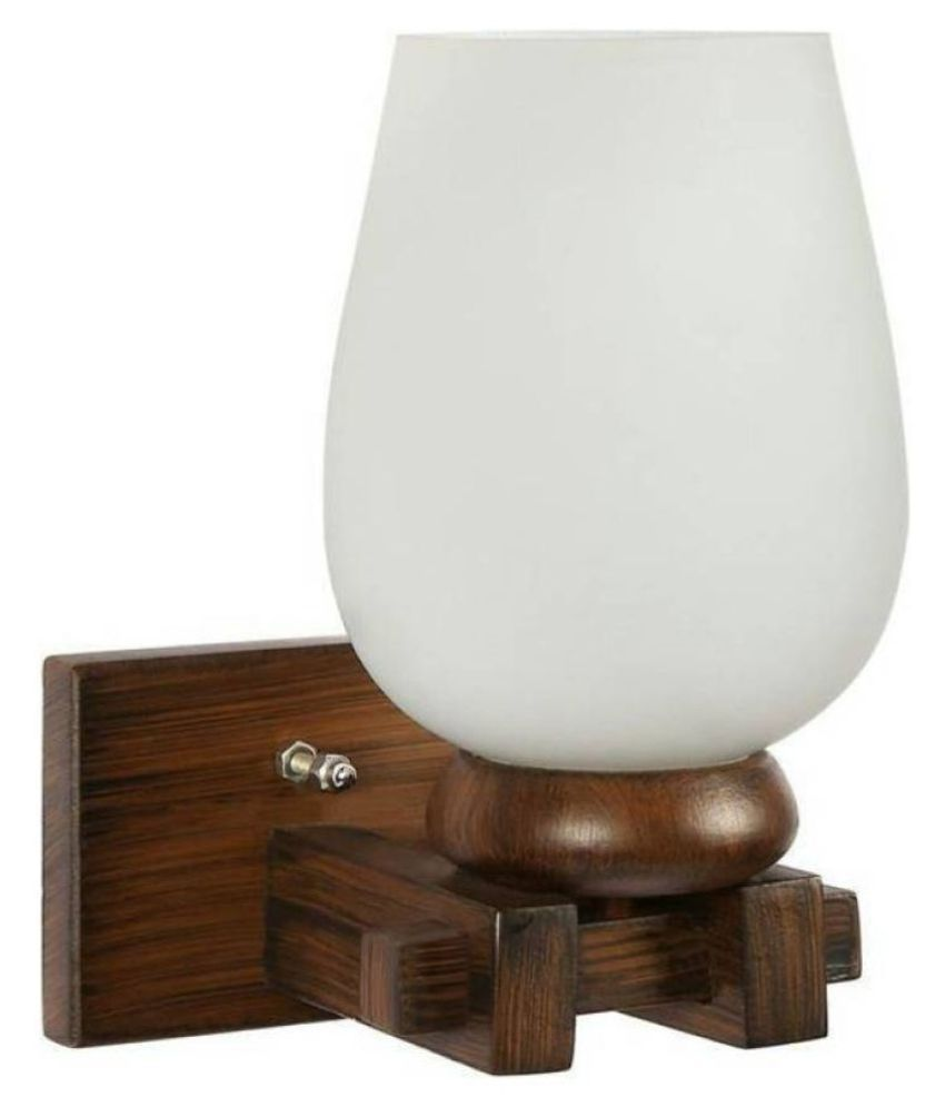 AFAST Decorative Wall Lamp Light Wood Wall Light White - Pack of 1