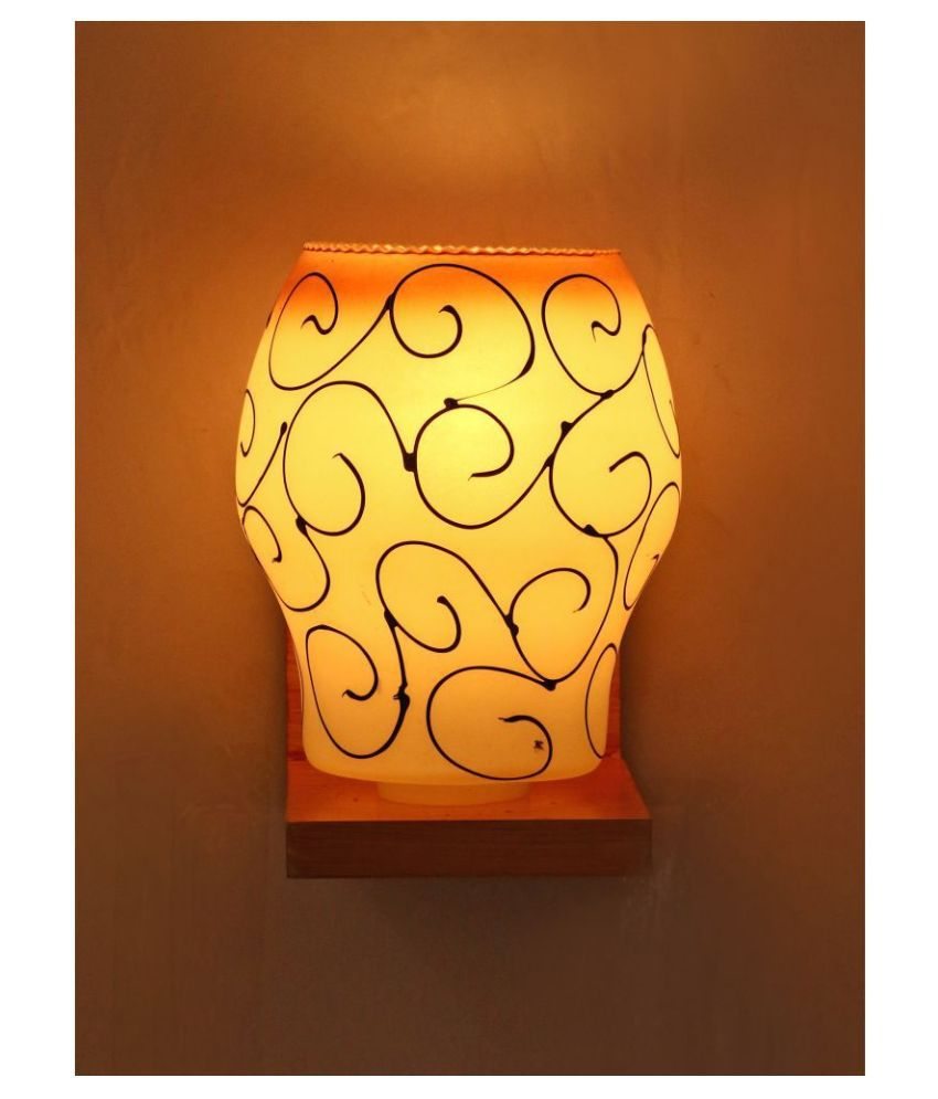 AFAST Decorative Wall Lamp Light Glass Wall Light White - Pack of 1
