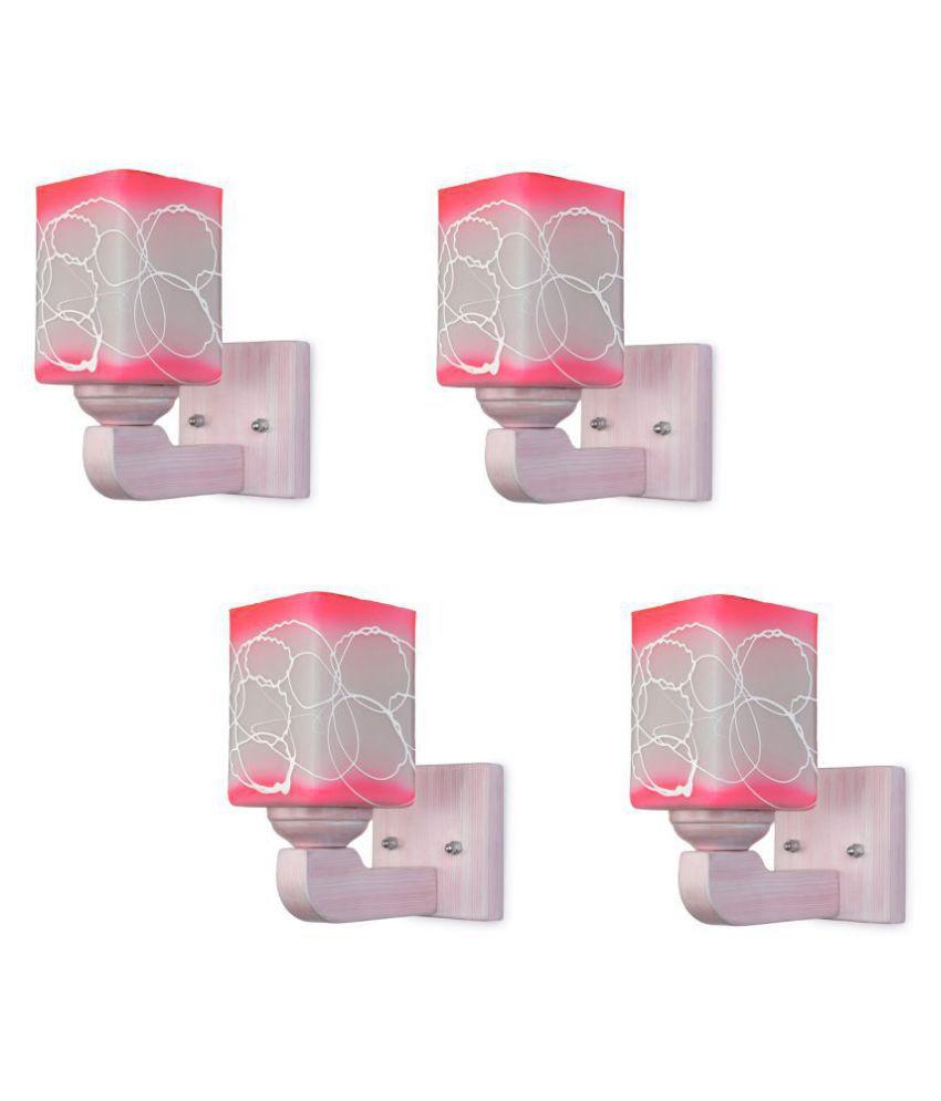 AFAST Decorative Wall Lamp Light Glass Wall Light Multi - Pack of 4