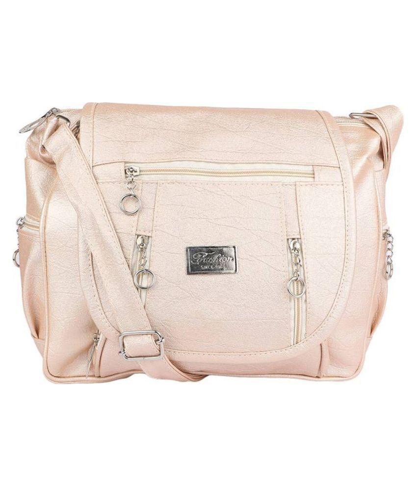 Parrk Cream P.U. Sling Bag