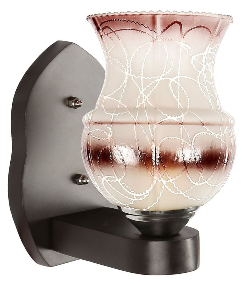 Somil Decorative Lamp Glass Wall Light Brown - Pack Of 1