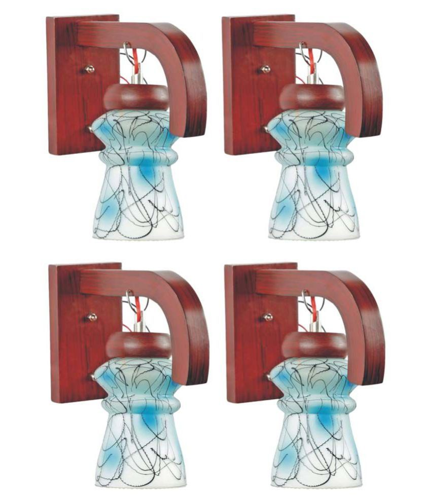 Somil Decorative Lamp Wood Wall Light Multi - Pack Of 4