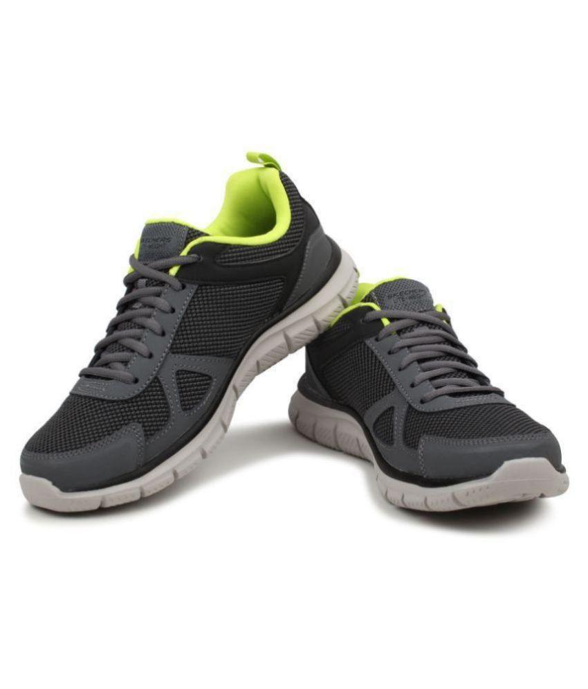Skechers 52630-CCLM Gray Running Shoes