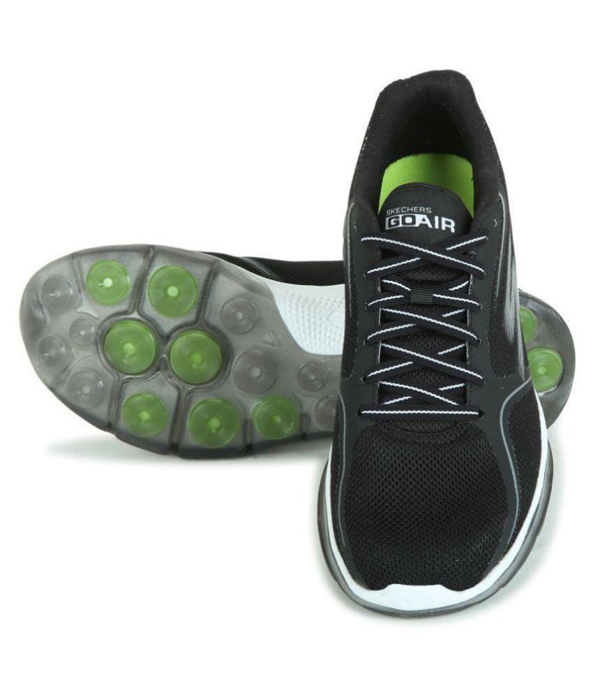 Skechers 54235-BKW Black Running Shoes