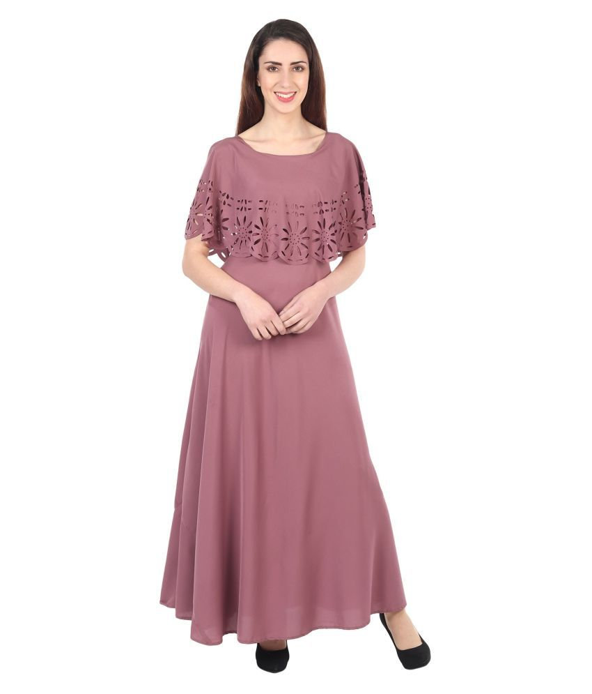 GopalPriya Creations Crepe Pink Regular Dress