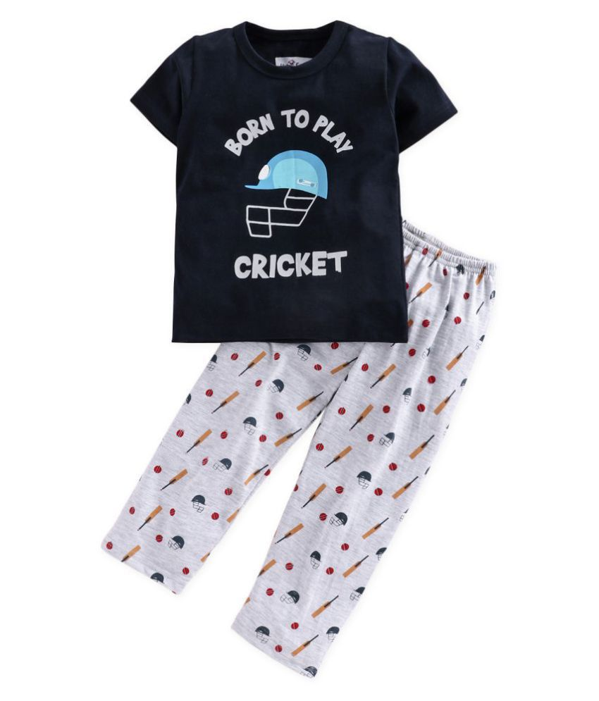 Nite Flite Boys Cricket Print Pyjama Set