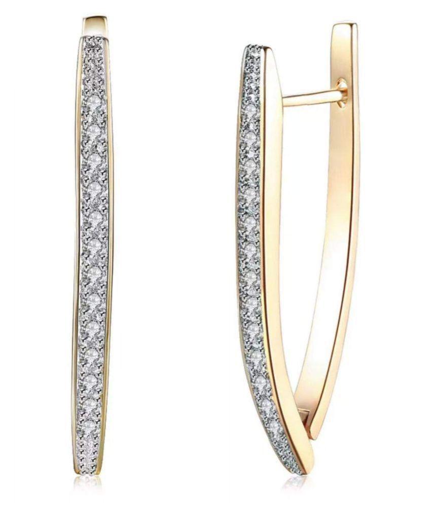 Stylish & Beautiful Women Long Hoop Earrings