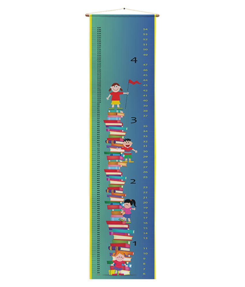 Right Gifting Polyester Height/Growth Chart Wall Hanger for Kids Room (Multicolor,12 X 54 Inches)