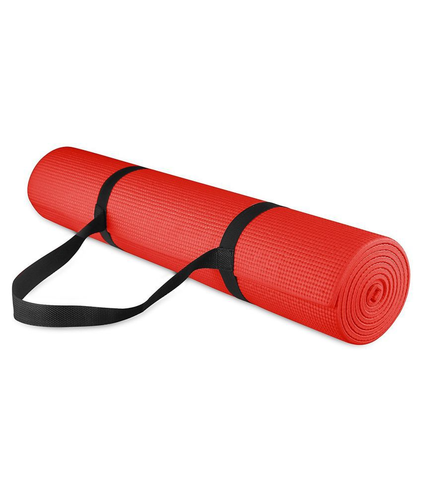 CROSSFIT Yoga Mat  100% EVA Eco Friendly Mat for Exercise & Gym with Yoga Strap Red Yoga mat for Men & Women