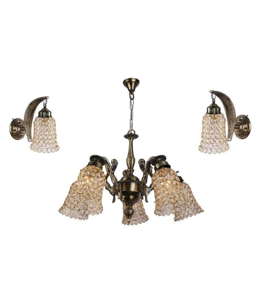 Somil Glass Exclusive Ceiling Decoration Pendant Gold - Pack of 3