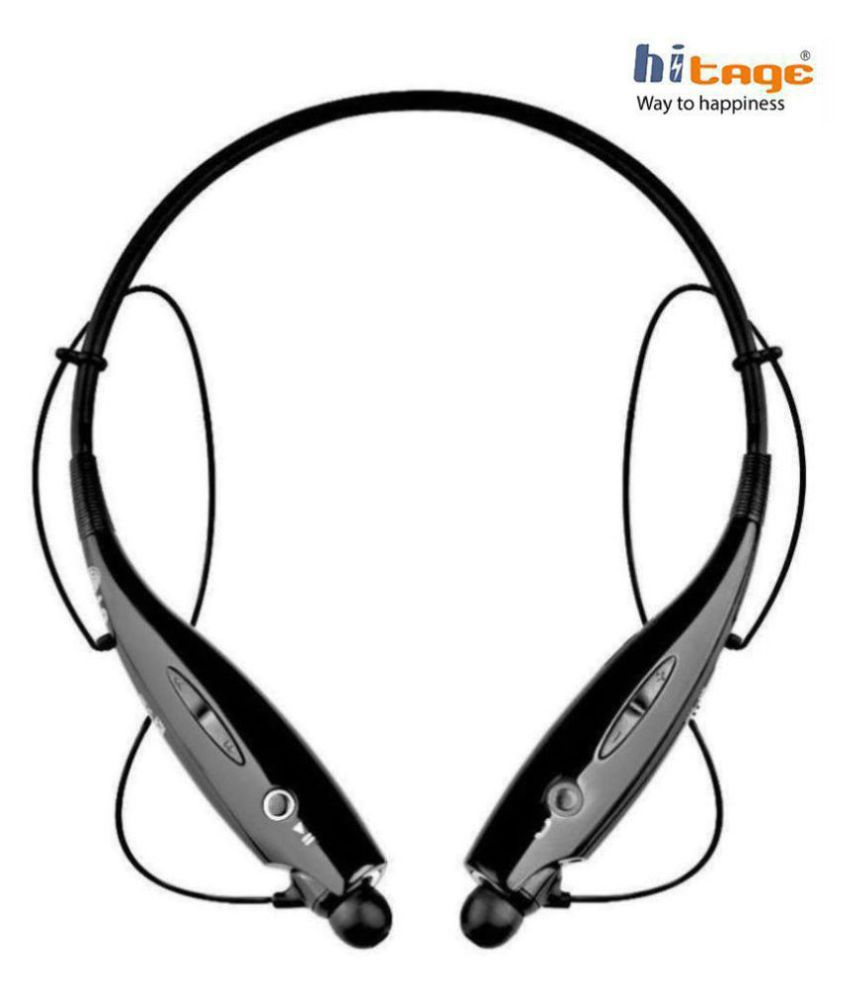 hitage HBS 730 Wireless Over Ear Headset with Mic Black