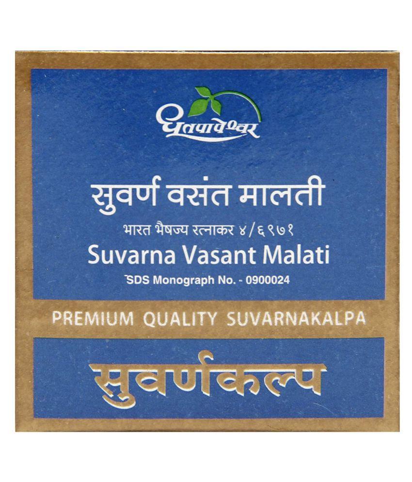 Dhootapapeshwar SUVARNA VASANT MALATI Tablet 30 no.s Pack Of 1