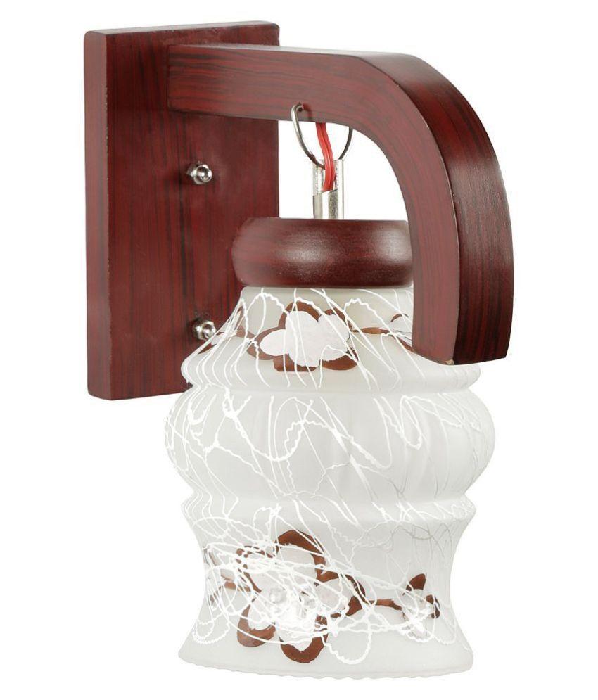 AFAST Decorative & Designer Glass Wall Light White - Pack of 1