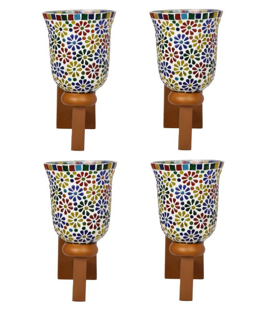 AFAST Decorative & Designer Glass Wall Light Multi - Pack of 4