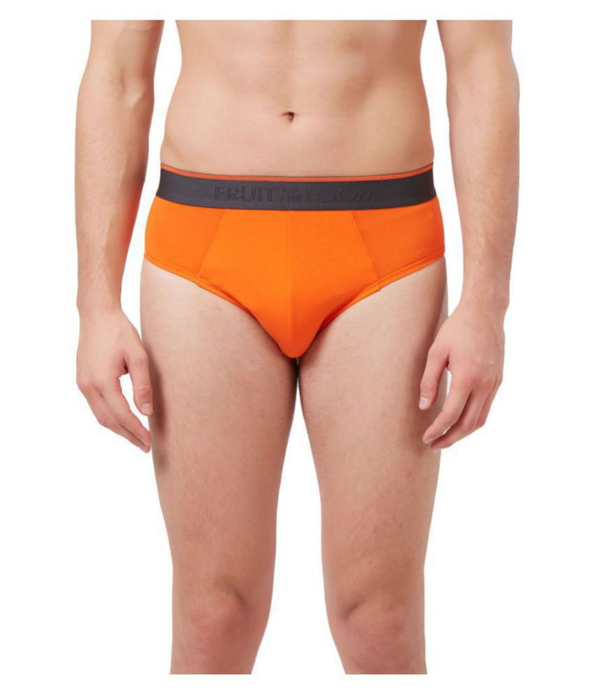 Fruit Of The Loom Orange Brief Single