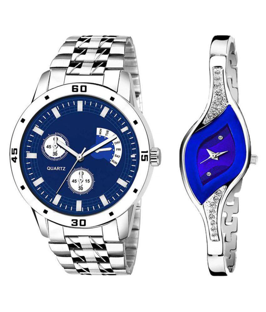 HERITA ENTERPRISES Blue Dial  New Stylish Couple Watch For Men And Women DR289