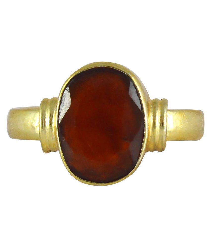MrDK 9.25 Ratti Lab Certified Gomed Hessonite Ring Adjustable Ashtadhatu Angoothee