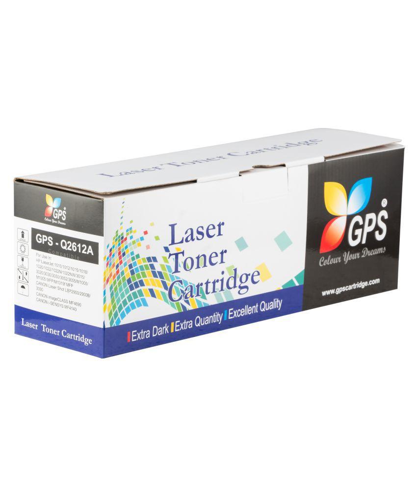 GPS_Colour Your Dreams 12a toner Black Single Toner for 12A for HP Q2612A Toner Cartridge Compatible Laserjet 1010, 1012,