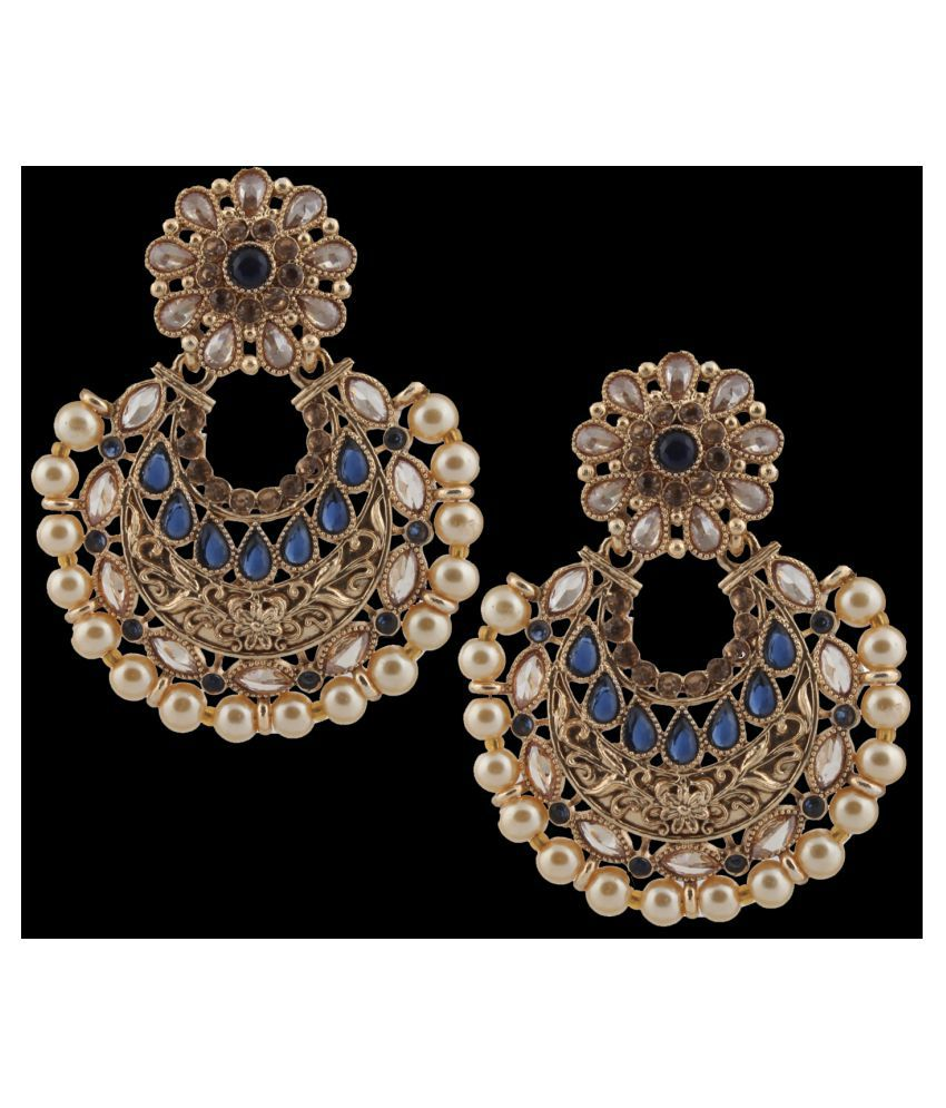 Piah Fashion Beguilling Gold Plated Jewellery Earring For Women,