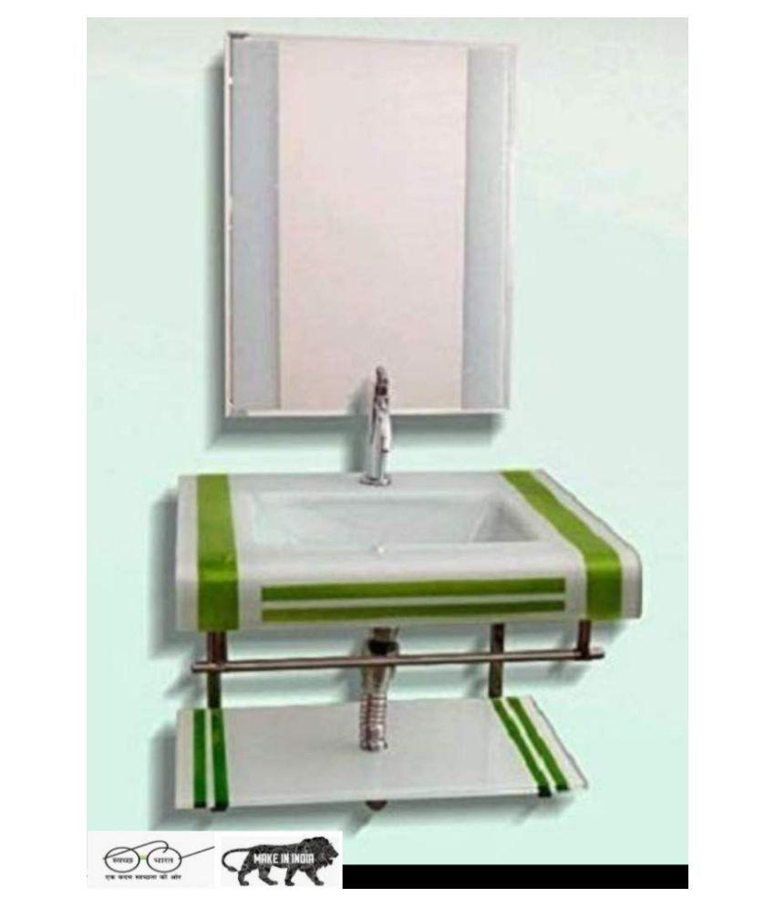 ARVIND SANITARY PVT LTD Green Toughened Glass Wall Hung Wash Basins