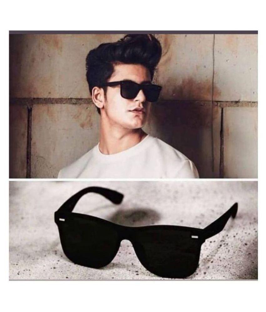 RESIST - Black Wayfarer Sunglasses ( BZ BLACK )