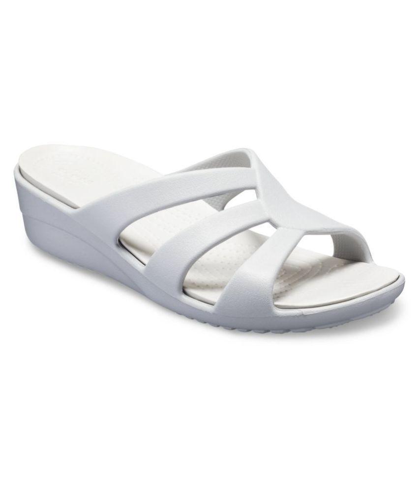 Crocs Silver Wedges Heels
