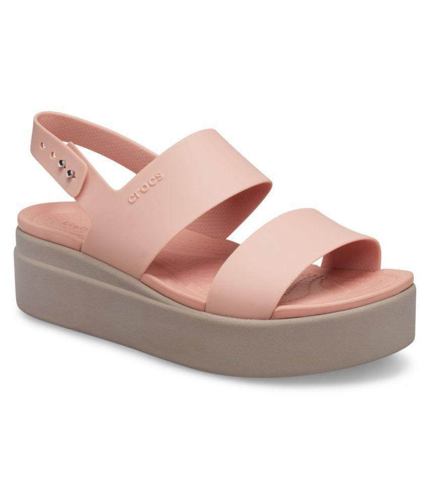 Crocs Pink Wedges Heels