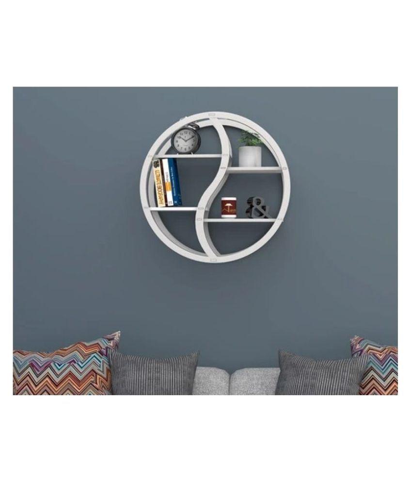 Trenton Round Floating Wall Shelf For Living Room