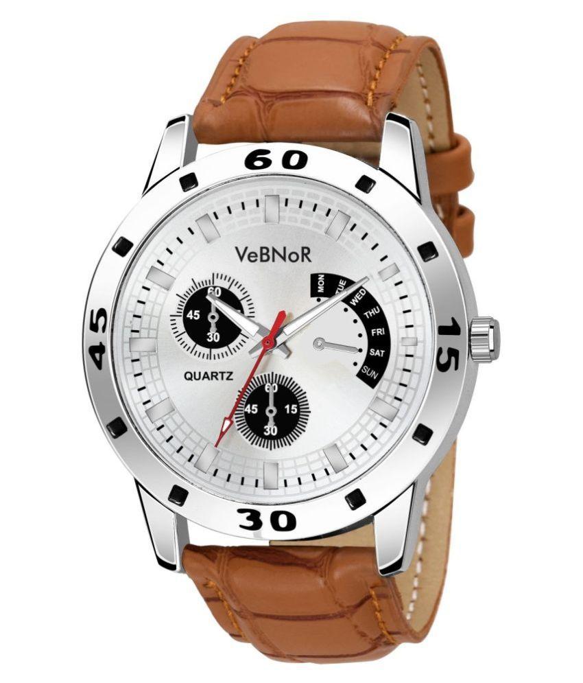 VeBNoR TRENDING Leather Analog Men's Watch