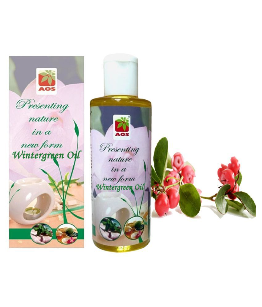 AOS Products Pure Wintergreen Essential Oil 60 mL