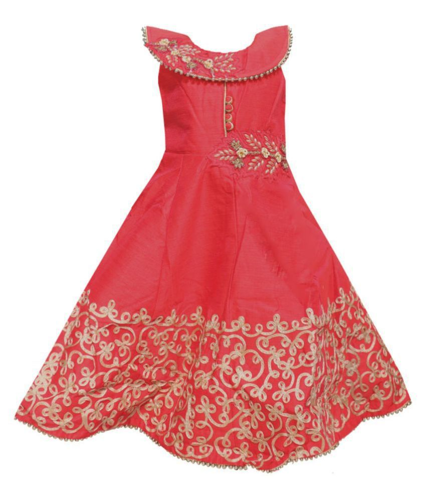All About Pinks Long Party Wear Dresses For Girls Birthday Dress Baby Girl Frocks Party Dress For Girls Dresses Girls Party Wear Frock Dress Frock For Girls Buy All About Pinks