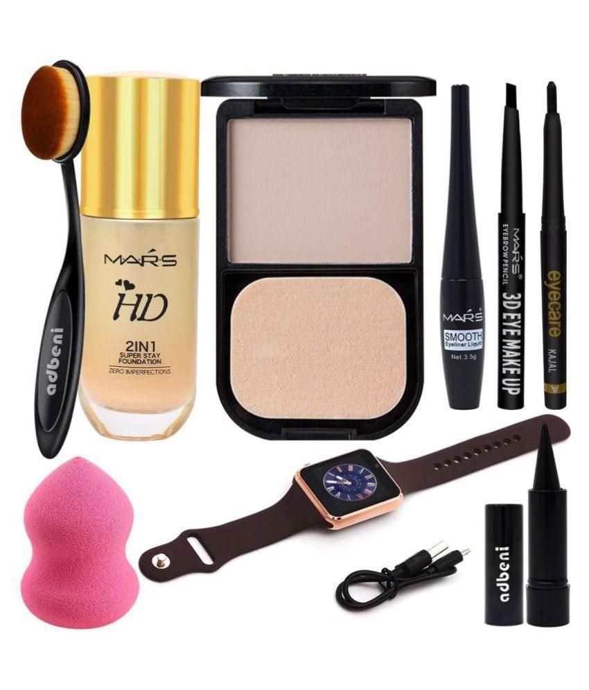 Adbeni Profesional Makeup Combo with Smart Watch, Set of 9, GC1105 Makeup Kit 164