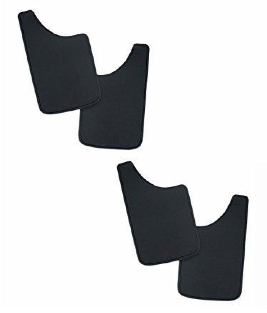 Mizzeo Car Rubber Mud Flap for Maruti Alto-800 (Set of 4)