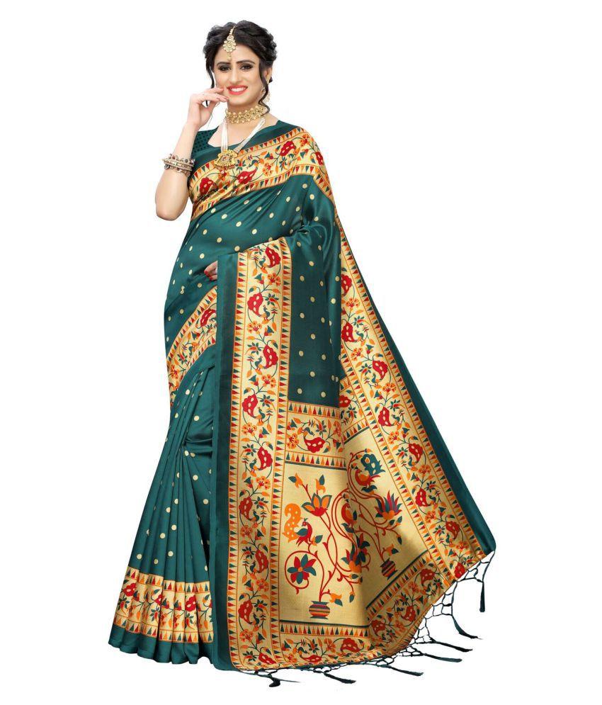 panghat collection Beige Art Silk Saree